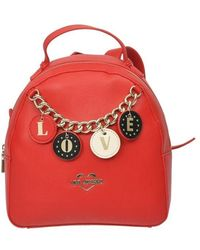 Love Moschino Polyurethane Backpack - Red