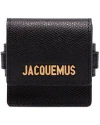 Jacquemus Leather Bracelet - Black