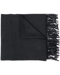 Emporio Armani All-over Logo Scarf - Black