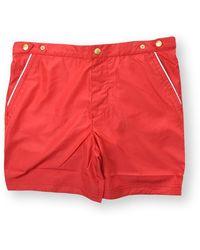 Eleventy Red Polyester Trunks