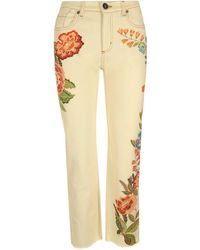 Etro ANDERE MATERIALIEN JEANS - Gelb