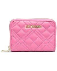 Love Moschino Gestepptes Portemonnaie - Pink