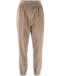 Brunello Cucinelli Corduroy Elasticated-waist Pants - Multicolour