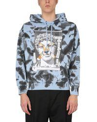Versace Jeans Couture BAUMWOLLE SWEATSHIRT - Blau
