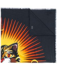Gucci Angry Cat Print Scarf - Black