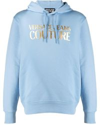 Versace Jeans Couture Felpa con stampa - Blu