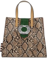 Manila Grace Multicolour Leather Handbag