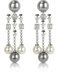 AZ Collection - Silver Other Materials Earrings - Lyst