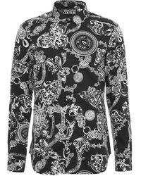 Versace 71gal2s0ns01112899 andere materialien hemd - Schwarz