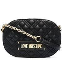 Love Moschino Umhängetasche aus Faux-Leder - Schwarz