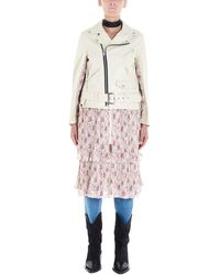 Junya Watanabe White Leather Outerwear Jacket