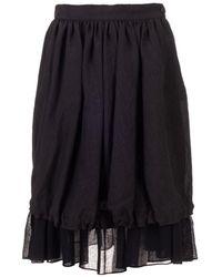 Loewe Wool Skirt - Black