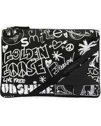 Golden Goose Deluxe Brand Graffiti-print Clutch Bag - Black