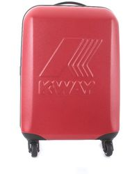 K-Way POLYESTER ROLLENTROLLEY - Rot