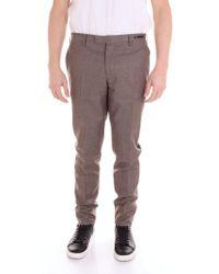 PT01 Brown Wool Trousers