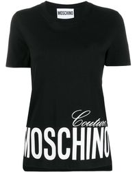 Moschino T-SHIRT COUTURE - Nero