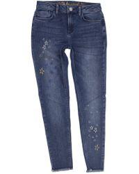 Desigual - Blue Cotton Jeans - Lyst