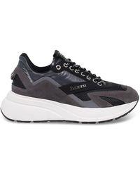 Cesare Paciotti Grey Suede Sneakers - Gray