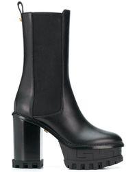 Versace Stiefel mit Plateausohle - Schwarz