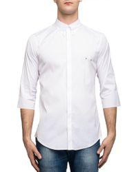 DSquared² Men's S71dm0046s44131100 White Cotton Shirt