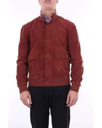 Roy Rogers Brick Leather Jacket - Red
