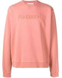 JW Anderson ROSA BAUMWOLLE SWEATSHIRT - Pink