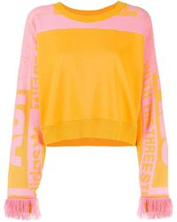 adidas Yellow Cotton Sweatshirt