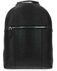 Ferragamo Black Leather Backpack