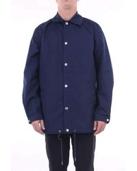 KENZO Polyester Trench Coat - Blue