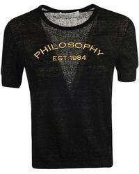 Philosophy Linen T-shirt - Black