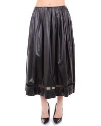 Vionnet Black Polyester Skirt