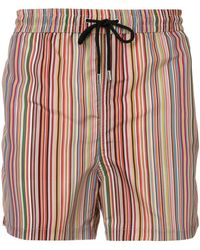 Paul Smith Multicolour Polyester Trunks - Red