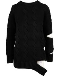 Zoe Jordan Black Wool Sweater