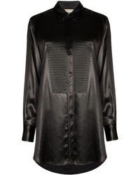 Bottega Veneta Satin Shirt - Black