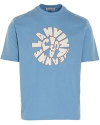 Lanvin BAUMWOLLE T-SHIRT - Blau