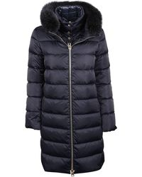 Herno Blue Polyester Coat