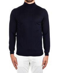 Paolo Pecora Blue Wool Sweater