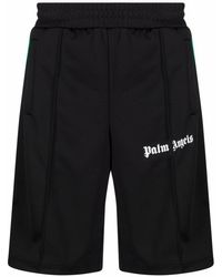 Palm Angels Logo-print Track Shorts - Black