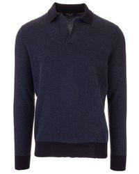 Loro Piana Cashmere Polo Shirt - Blue