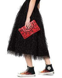 Love Moschino POLYURETHAN POUCH - Rot