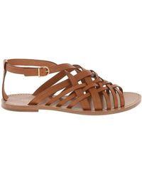 Celine Céline Women's 338603363c04lu Brown Leather Sandals