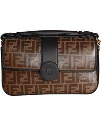Fendi Brown Leather Shoulder Bag