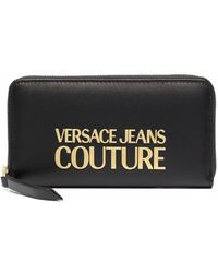 Versace Jeans Couture Portemonnaie mit Logo - Schwarz