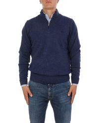 Brooksfield Blue Wool Jumper