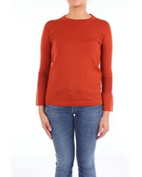 Alpha Studio Red Wool Sweater