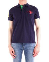 U.S. POLO ASSN. Blue Cotton Polo Shirt