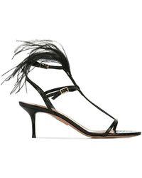 Aquazzura Leather Sandals - Black
