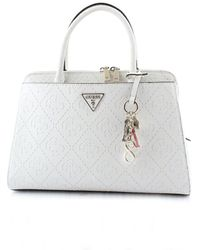 Guess White Faux Leather Handbag