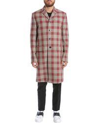 Valentino Karierter Mantel aus Schurwolle mit Stickereien - Mehrfarbig