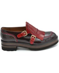 Fratelli Rossetti Burgundy Leather Loafers - Red